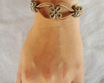 Leather Bracelet with OWL