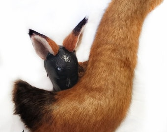Fox ears and tail, inspired by Zootopia