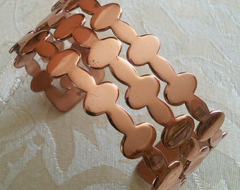 Renoir Copper Cuff bracelet// Midcentury Modern copper bracelet