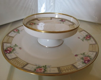 Nippon Hand Painted Rose Appetizer Plate