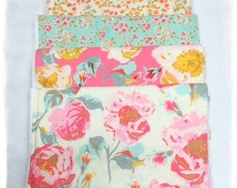 Burp Cloths, Spring Floral, Minky