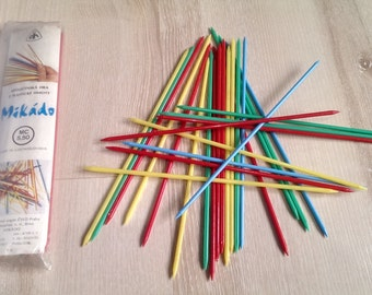 Vintage Game MIKADO, Made in Czechoslovakia in 1977 s, Family Game with Plastic Sticks