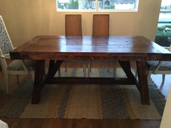 Farmhouse Dining Table Made Of Reclaimed Wood