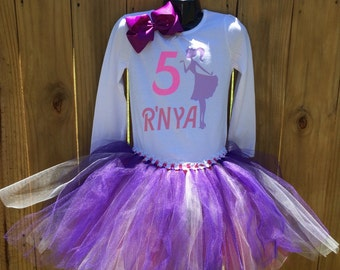 Birthday outfit, Tutu set, Custom B-day outfit, gift, tutu gift, girl outfit