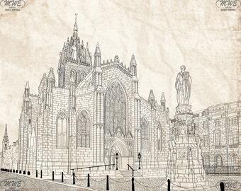 St Giles' Cathedral Edinburgh Print
