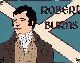 Robert Burns Mounted Print