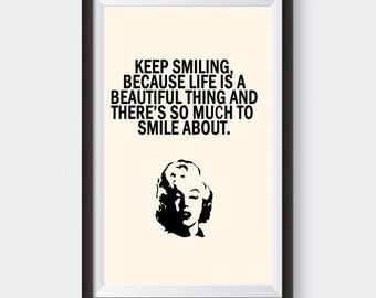 A4 MARILYN MONROE QUOTE