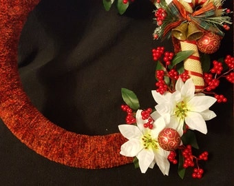 Red Christmas candy cane wreath
