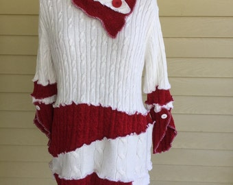 Upcycled sweater tunic