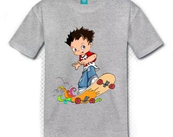 t-shirt boy Skate