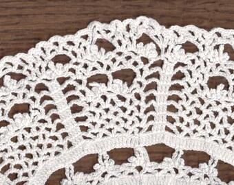 Vintage mid-century white crochet doilie