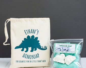 Personalised Children's Bathtime Dinosoap Kit