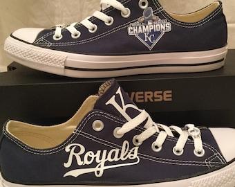 Kansas City Royals World Series Champions Converse Chuck Taylor Sneakers MLB