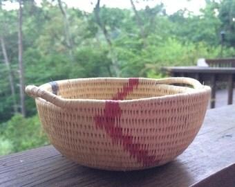 Vintage African Hand Woven Basket