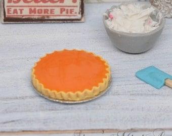10 % off 1:12 Dollhouse Pumpkin Pie / Miniature pie/ Dollhouse miniature dessert BD K2157