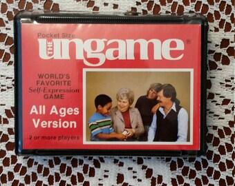 Vintage 1983 The Ungame Pocket Size All Ages Version