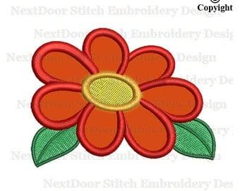 Flower embroidery applique, lotus  floral machine embroidery applique design,  fls-033