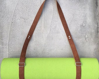 Handmade Leather Strap Yoga and Pilates Mat Carrier Sling