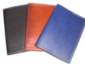 Leather Passport Holder Cover, USA,UK & Euro-size standard
