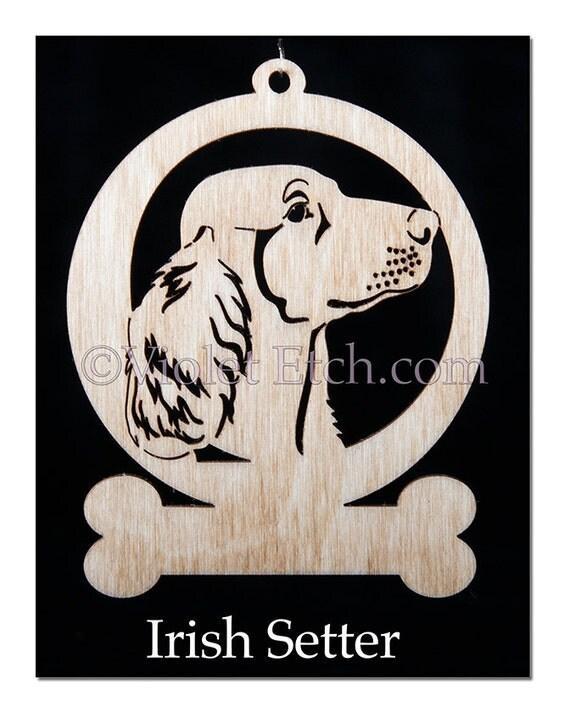 Irish Setter Ornament-Irish Setter Gift-Free Personalization