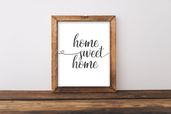 Printable Wall Art Home Sweet Home By GracieLouPrintables