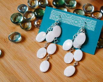 Beautiful Mother-of-Pearl Layered Earrings