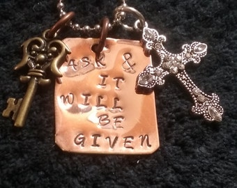 Ask & It Will Be Given memory necklace