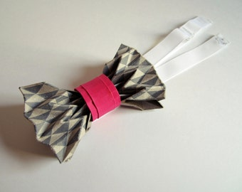 Origami printed bow tie