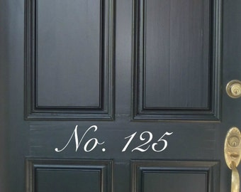 House Numbers Front Door Decal, Mailbox Numbers Decal, Vinyl Decor, Address Number Front Door Decal, Entry Door Decal, House Numbers Decal