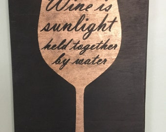 Sign- Wine