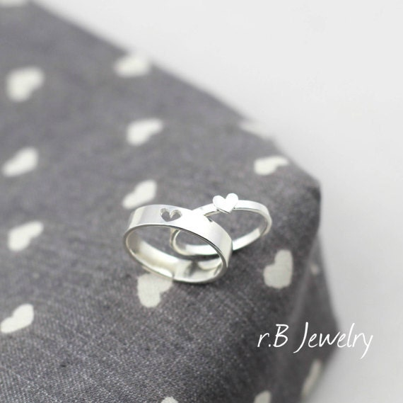 Couple Ring Set His And Her Promise Rings Matching by ...