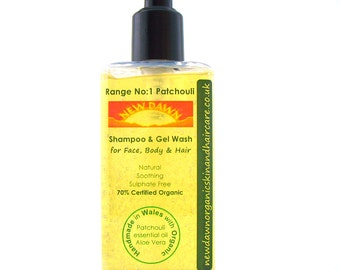 Patchouli Organic Shampoo ~ Patchouli Shampoo for Face, Body & Hair ~ Handmade ~ Vegan ~ Natural Skin and Hair Care