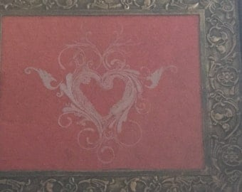 Hand Etched Heart