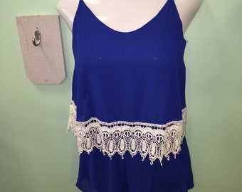 Royal Blue Romper size S