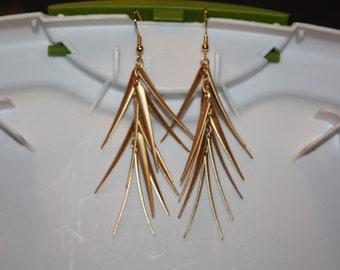 Gold Spiky Earrings