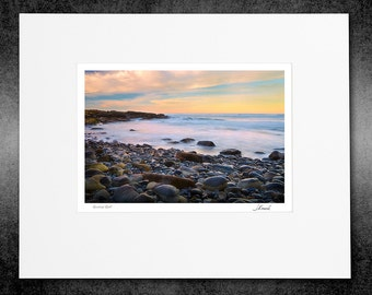 Matted Color Print, Fine Art Photography, Sunrise Surf, Signed Open Edition Original Photograph, Photo Decor, Coastal Photography, Wall Art