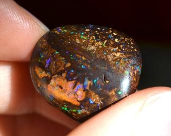 Stunning Double Sided Australian Boulder Opal Bead