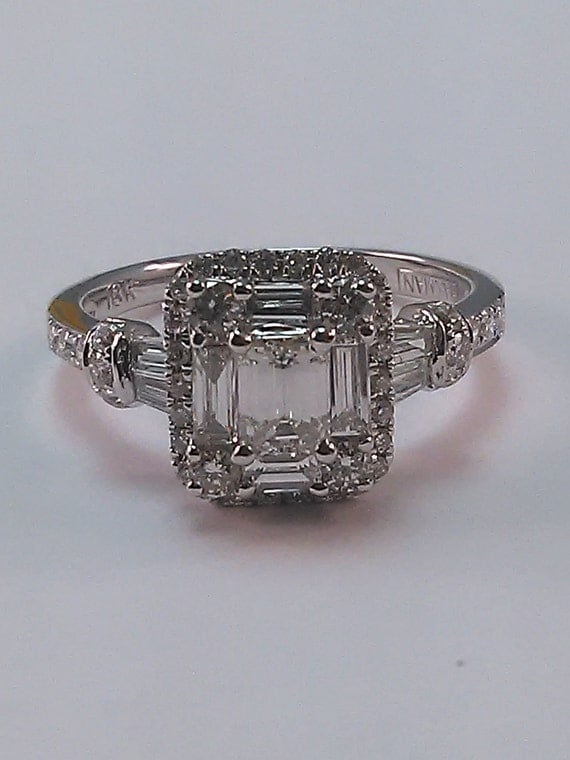 emerald cut ring by davidtownjewelers2 on etsy