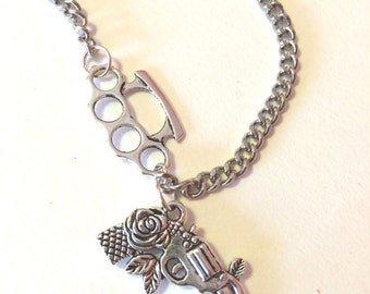 Knock Out Charm Necklace