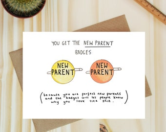 Baby card - Funny cards - Funny New Parent card  Baby Congratulations -New Baby -Rude card- Mature card -Funny baby cards - Snarky card Baby