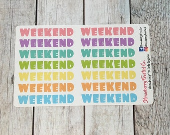 Weekend Banners in Pastels- Made to fit Vertical or Horizontal Layout
