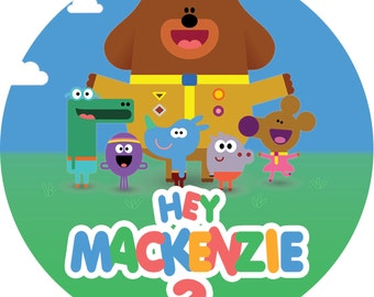 Hey Duggee Edible Image Icing personalised Cake Topper