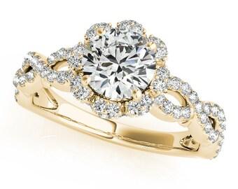 Lotus Flower Engagement Ring,Lotus Engagement Ring, Unique Engagement Ring. Blooming Flower Engagement Ring.