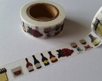 Wine and grapes Washi Tape