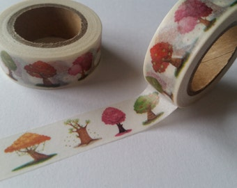 Trees of the seasons Washi Tape
