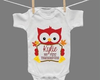 My First Thanksgiving Infant Girl Baby Girl Baby Bodysuit