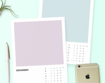 NEW! Printable 2017 Pantone Color Calendar - Instant Download