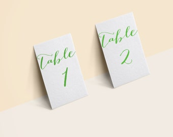 Table Number 1-50 4X6 lime green PRINTABLE