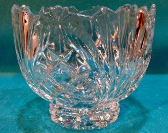 "Crystal Bowl ""Meridian"" by Crystal Clear - Lead Crystal"