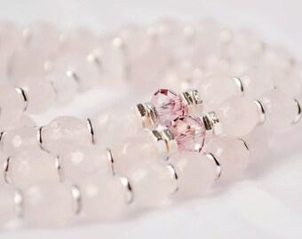 Rose Quartz Mala Beads - Mala Prayer Beads - Buddhist Mala Beads - Buddhist Prayer Beads - 108 Beads - Mala Beads - Tibetan Prayer Beads